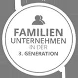 Familienunternehmen in der 3. Generation - Siegel